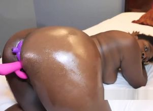 uber-sexy chocolate stub toying with..