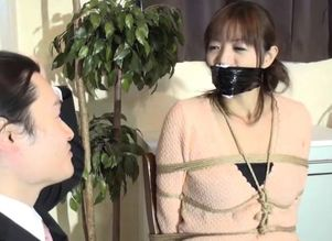 Japanese ball-gagged interview