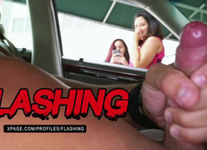 Latina sees me wank publicly in my car