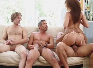 3 meaty penises for Britney Amber