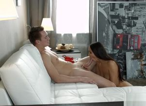 Super-hot young lady dame creampied
