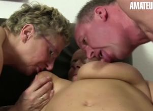 Amateureuro four-way fucky-fucky with..