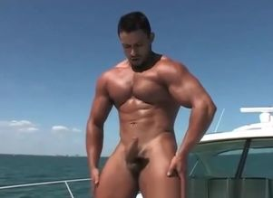 bulky latino solo on the boat