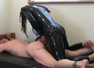 Spandex suit  tearing up victim with..