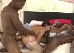 dark-haired group-fucked by dark-hued..