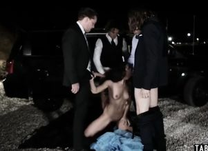 prom night turns into a group sex for..