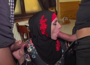 Muslim female opened up her gams for IDs