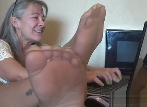 Office Hang n Taunt of Stockings Soles