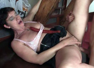 Cock-hungry aged slut entices son-in-law