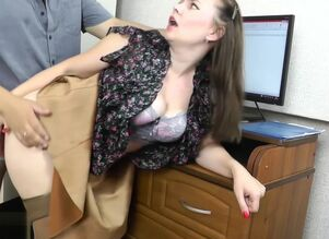 Wifey cuckold on spouse at work with..