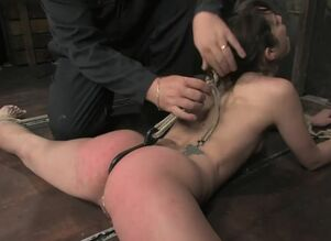 Corded hook-up marionette buttfuck dp