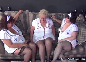 3 plumper grandmas in nurses